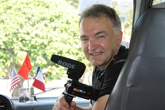 Terry as videographer with the childrens charity No Ordinary Journey Foundation
