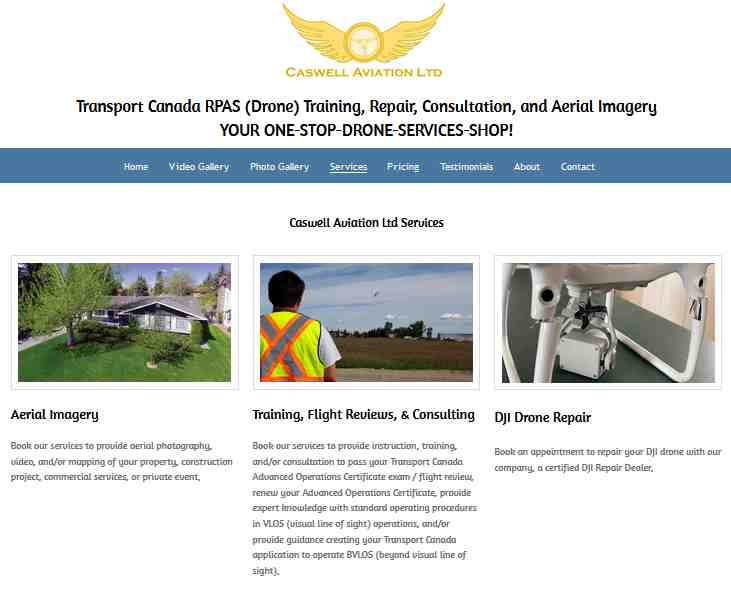 Caswell Aviation for Aerial Videos and Photography