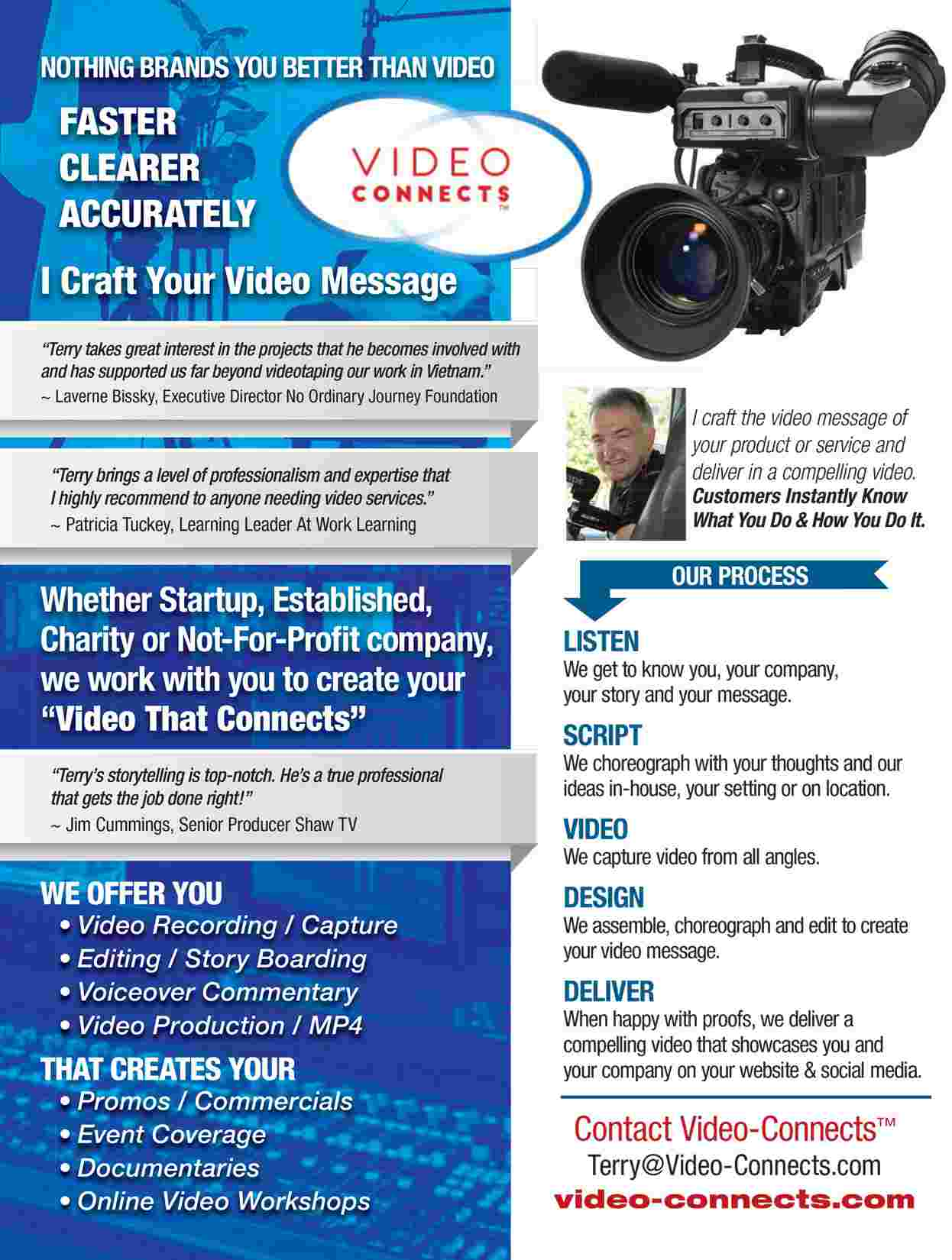 Video-Connects Marketing Brochure One Pager